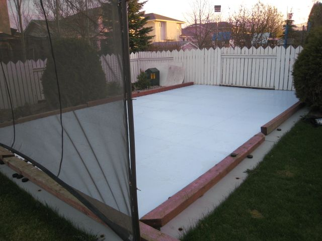 synthetic ice backyard rink ice rinks pinterest