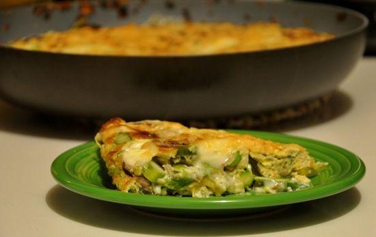 Savory Leek, Mushroom, Asparagus Frittata   Recipe