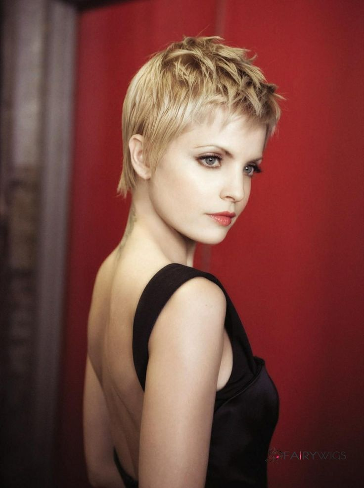 Up To Date Short Blonde Capless Celebrity Hairstyle 100 Human Hair ...