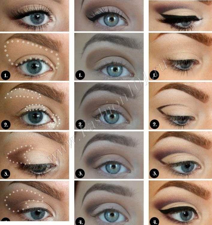 Как сделать макияж для серо голубых глаз 807