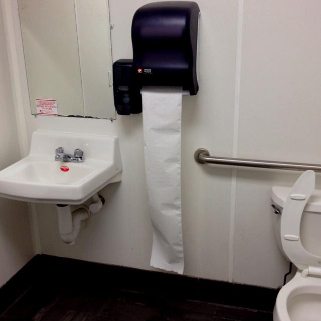Men's bathroom at FroYo in UCity. Clean!