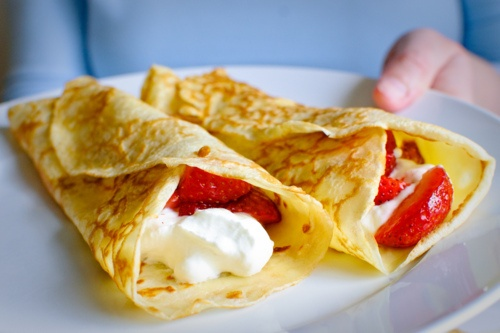 crepes...strawberry and cream cheese, the BEST