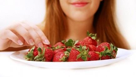 People Eating Strawberries