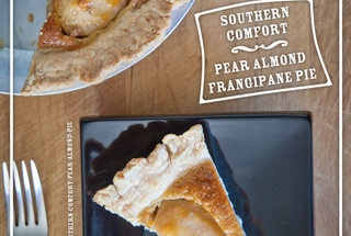 Southern Comfort Pear Almond Frangipane Pie