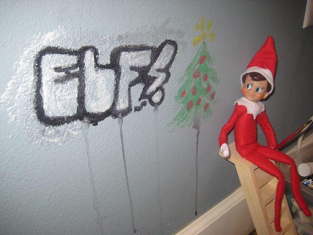 Elf on the Shelf ideas-graffitti(sp?)