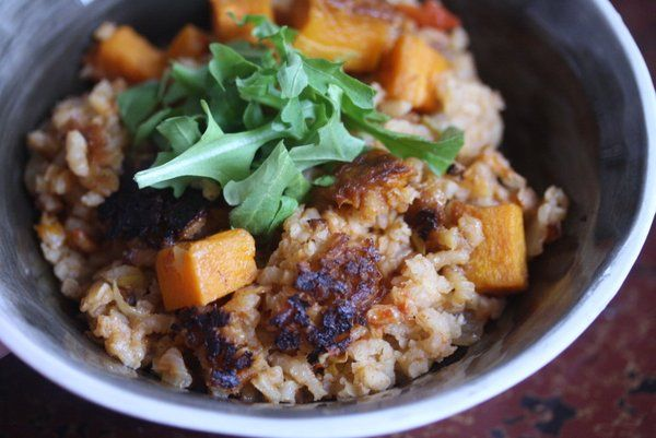 Meatless Monday: Vegetarian Butternut Squash and Leek Paella | Feed Me ...