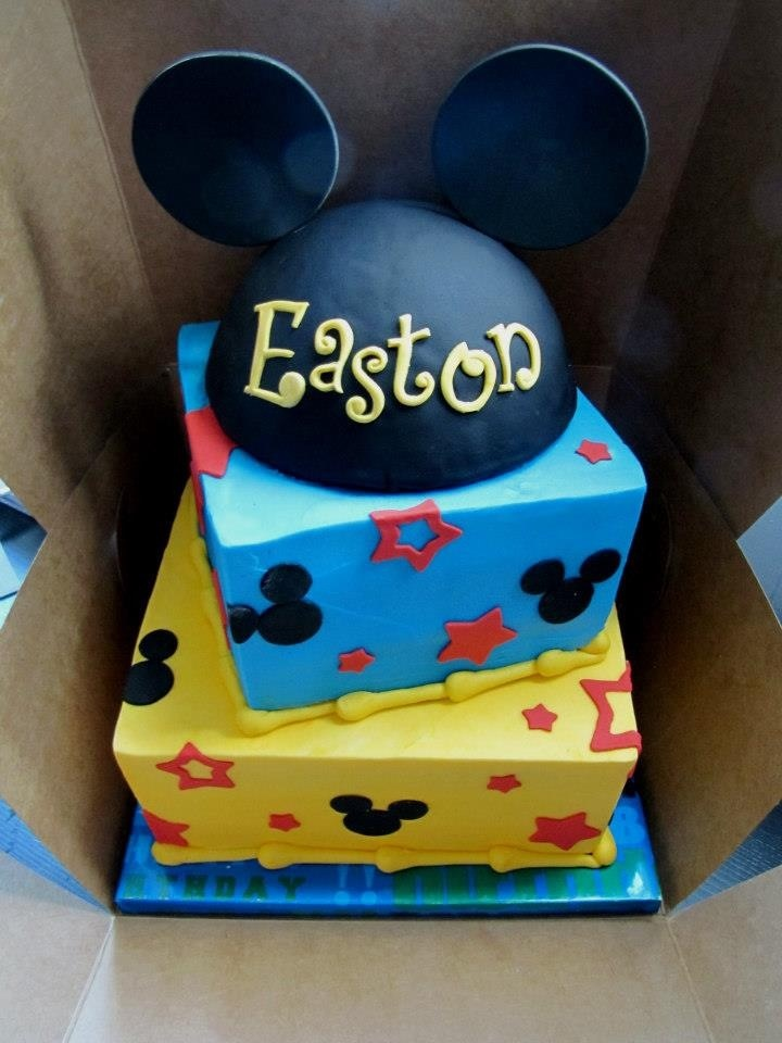 1st Birthday Mickey Mouse Cake!  Sterlings 1st Birthday Mickey Mouse ...