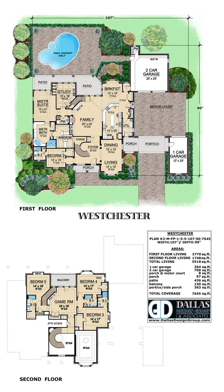 Westchester House Plan From Dallas Design Group Check