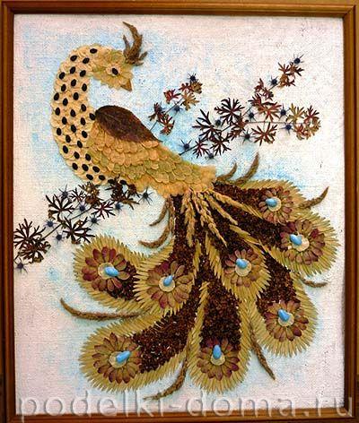 Жар-птица своими руками из природных материалов