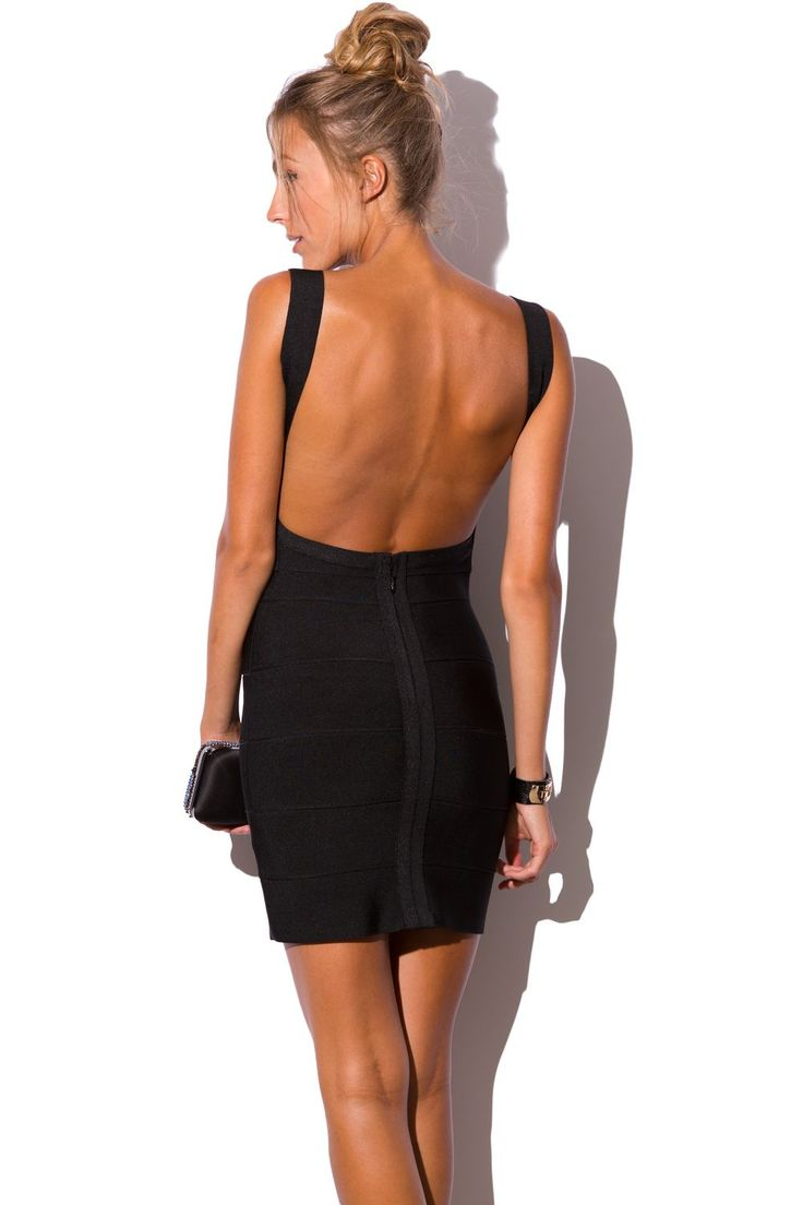 Vestido escote en la espalda