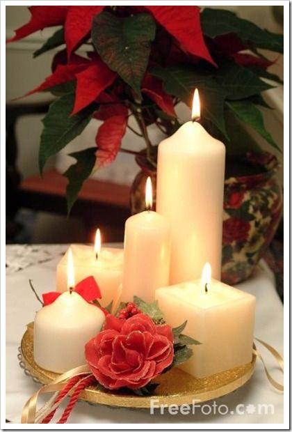 Manualidades Decoracion Velas ~ Como un centro de mesa con distintas formas y tamanos y una flor