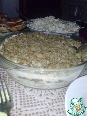 Салат с отварной куриной грудкой с сыром
