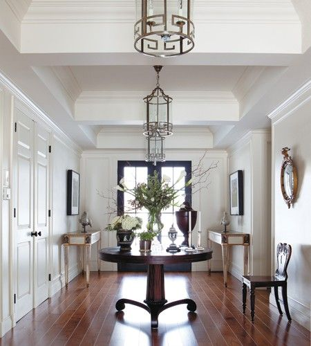 Front Foyer Round Table : Pin by fox hollow cottage on extra spaces foyers