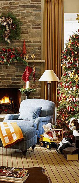 Country christmas decorating ideas rustic christmas for Country christmas decorating ideas