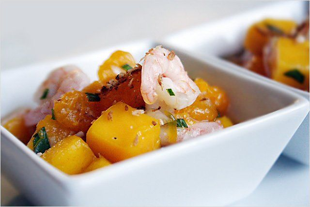 Fruit Salad Recipe (with Baby Shrimps and Toasted Coconut) | Easy ...