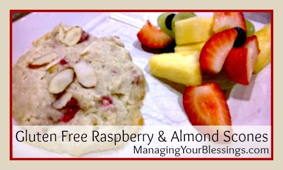 Gluten Free Raspberry & Almond Scones | Gluten Free Recipes | Pintere ...