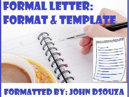 Formal letter format ks3 spiritdancerdesigns Choice Image