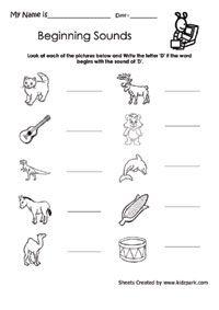 Class 1 Beginning Sound J Worksheet For LKG,Home Schooling Worksheets ...