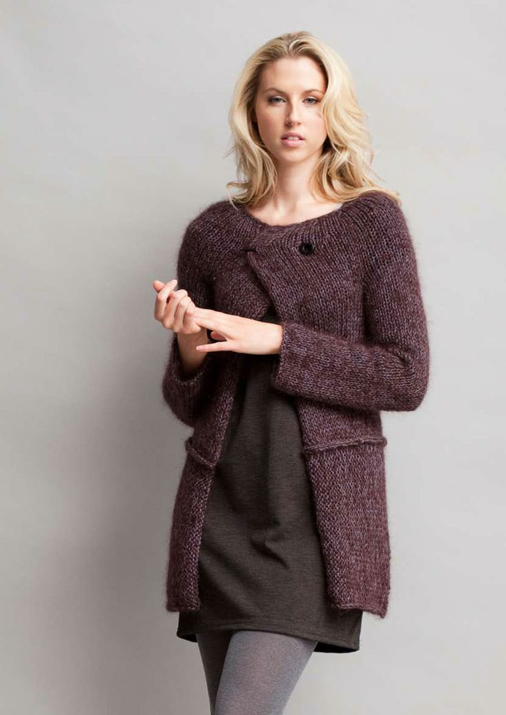 Knitting Pattern Yoke Cardigan : Jo Sharp Yoke Cardigan - free pattern Sweater-Knitting Pinterest