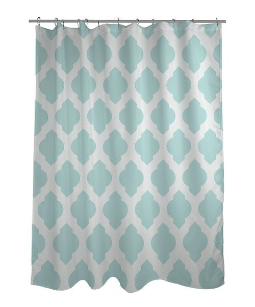 take a look at this aqua moroccan shower curtain on zulily today
