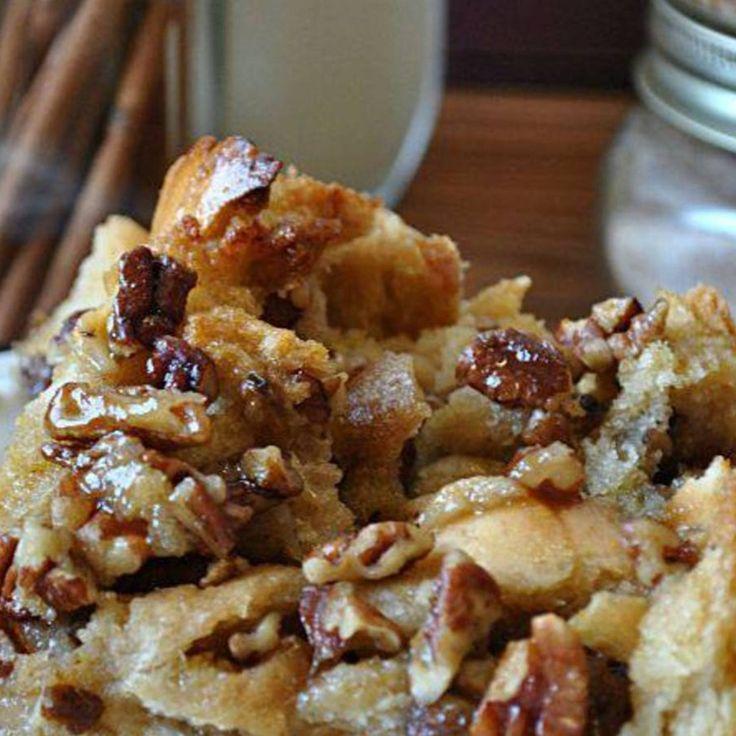 Maple-Pecan Bread Pudding Recipe — Dishmaps
