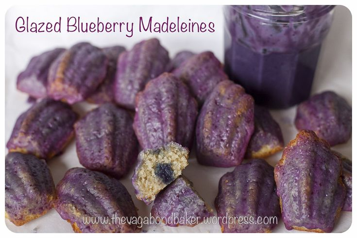 ... almond or coconut.... glazed blueberry madeleines | Vagabond Baking