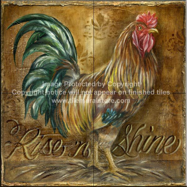 i want this for my backsplash rooster wallpaper tiles