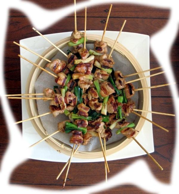 Chicken Yakitori (Japanese grilled skewered chicken)