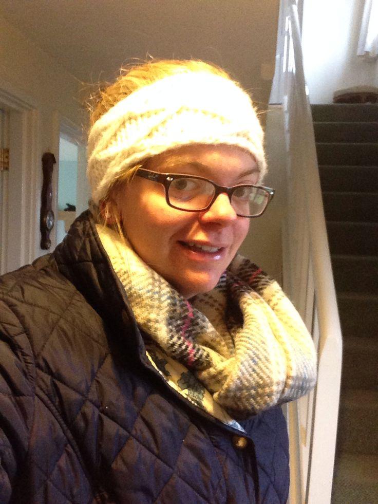 Something new (scarf, headband, hair) | Belated photo challenge ...