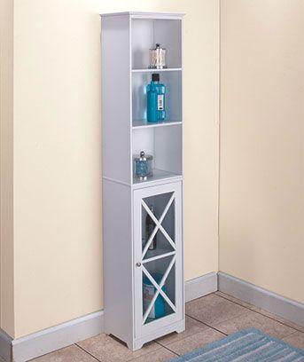 Crisscross Tall Narrow Bathroom Cabinet Favorite