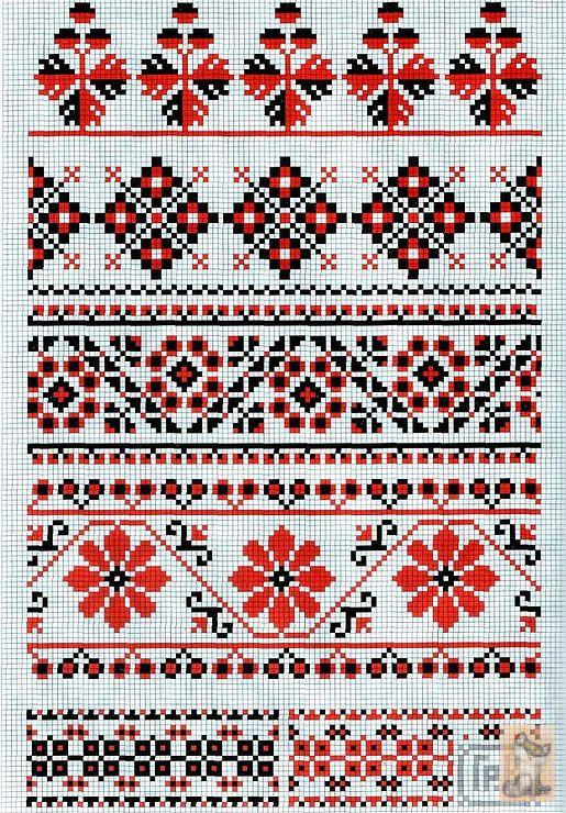 Вышивка крестом украинский орнамент вышивка
