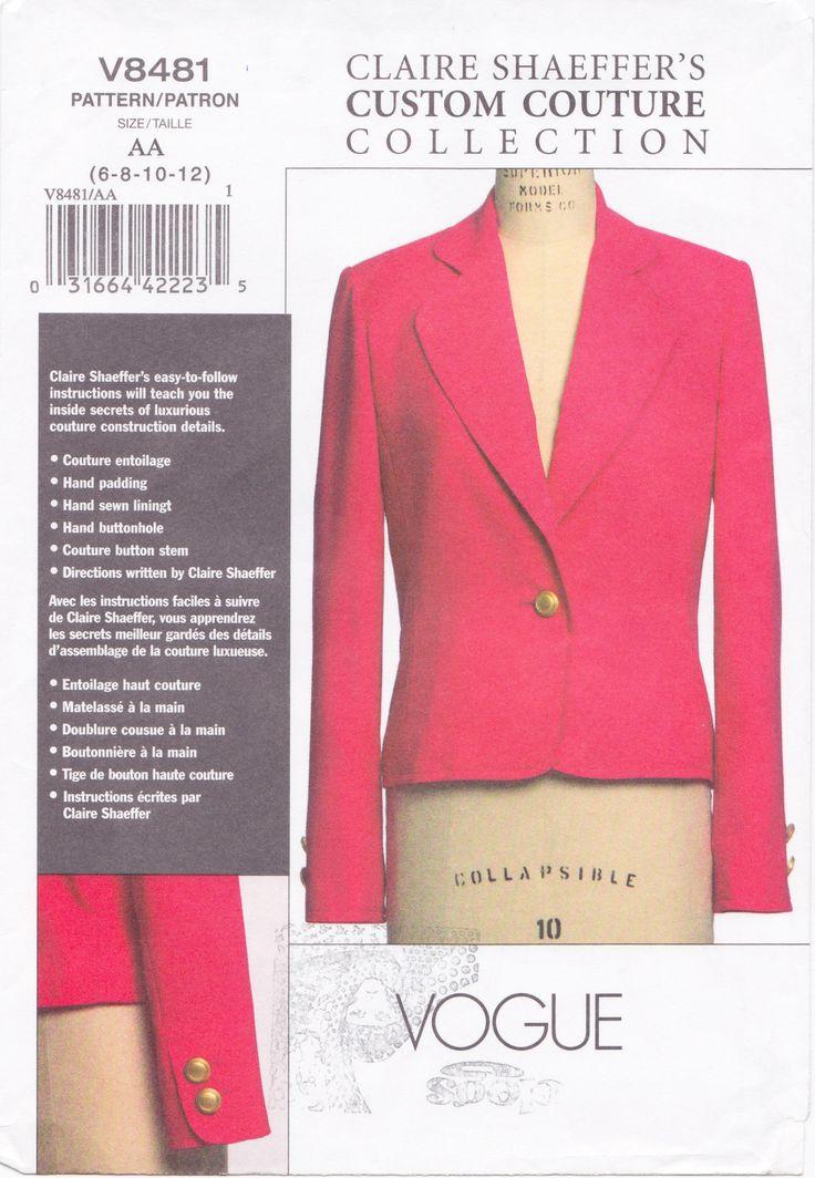 Vogue 8481 Claire Shaeffer Jacket