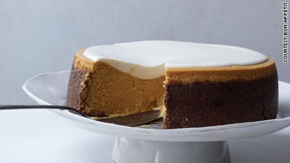 Pumpkin Cheesecake With Marshmallow-Sour Cream Topping And ...