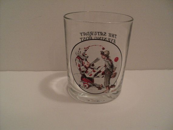 Norman Rockwell Saturday Evening Post Glass by ALEXLITTLETHINGS, $5.99