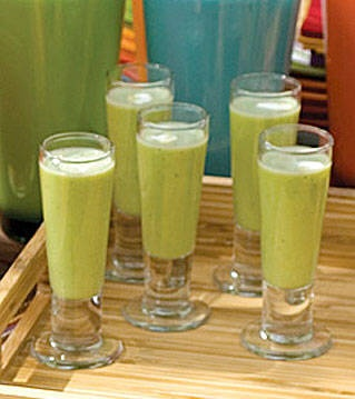 Green Pea Soup Shooters