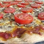 Tomato, Basil, Feta and Garlic Pizza | Pizza | Pinterest