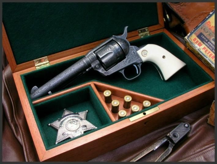 Colt Single Action Army .38 Special Revolver						  Dennis Reigel Gun Engraving