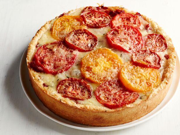 Tomato-Fontina Torte with Rosemary Crust