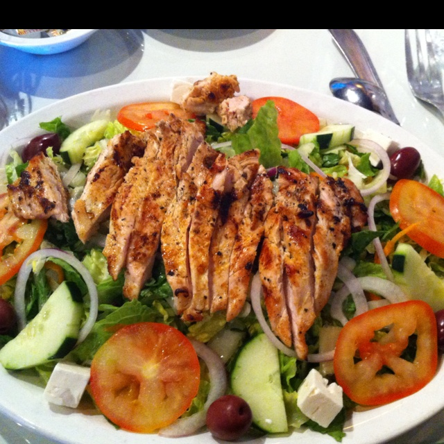 Grilled Chicken Greek Salad | Food...glorious food | Pinterest
