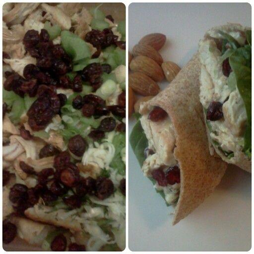 """Turkey Cranberry Salad"""" SUPER EASY! Ingredients.. 2 c Turkey, 1/2 c ..."""