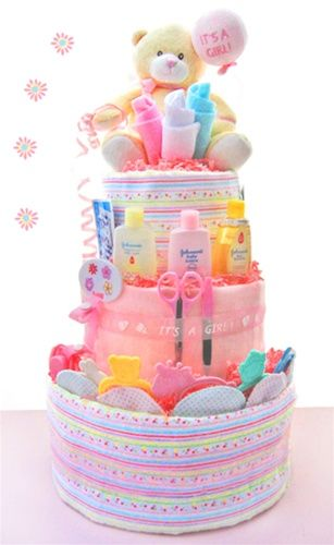 It's A Girl 3 Tier Diaper Cake
