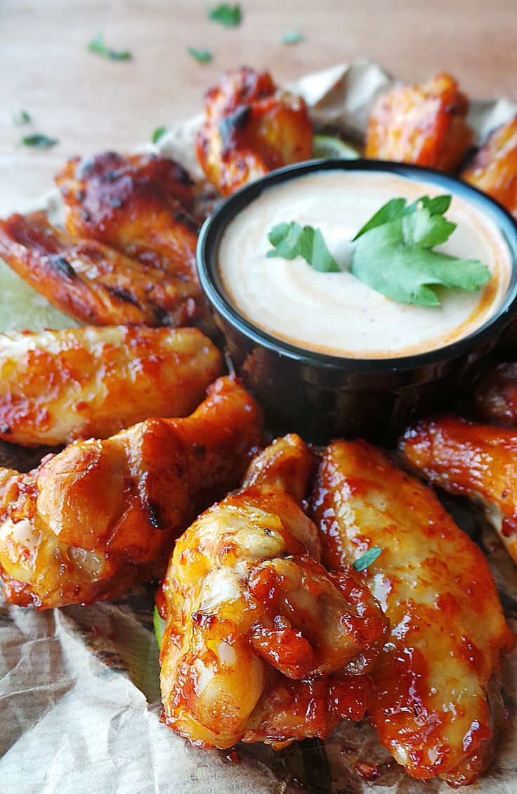 Ginger-Lime Chicken Wings With Rum Glaze Recipe — Dishmaps