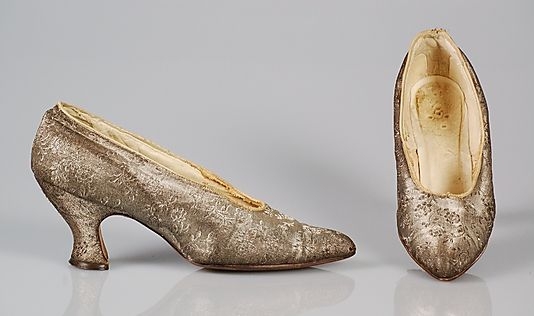 Mademoiselle Willets, wedding shoes - 1918 - The Metropolitan Museum