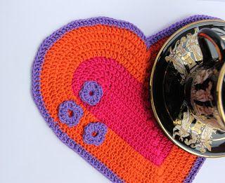 Flower Edged Potholder - Free Crochet Potholder Pattern