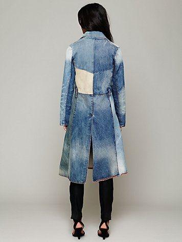 Сшить пальто из джинсовой ткани 86