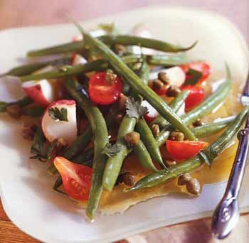 Potato, Green Bean, and Cherry Tomato Salad Recipe at Epicurious.com
