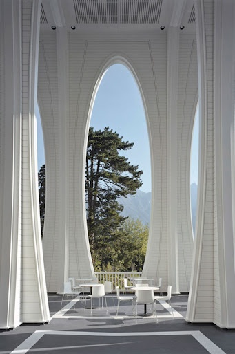 The architects at the Zurich based Smolenicky & Partners, designed the Tamina Thermal Baths for the Grand Resort in Bad Ragaz, Switzerland.