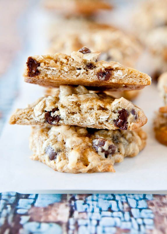 and Chewy Coconut Oatmeal Toffee Cookies - There's toffee, chocolate ...