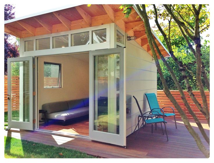 Backyard Man Cave Shed : wwwstudioshedcom This 10×12 Studio Shed is used as a satellite