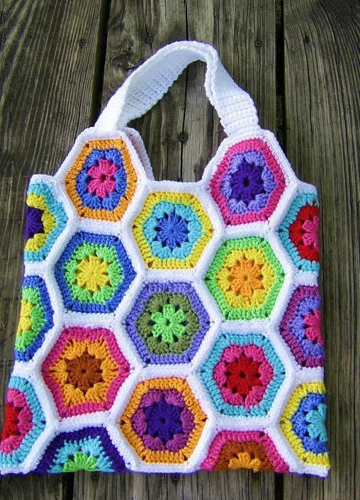 Crochet Hexagon Bag : Crochet Bags